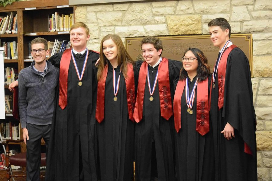 Mr. Tipping and participants of the All-State Festival in 2019.