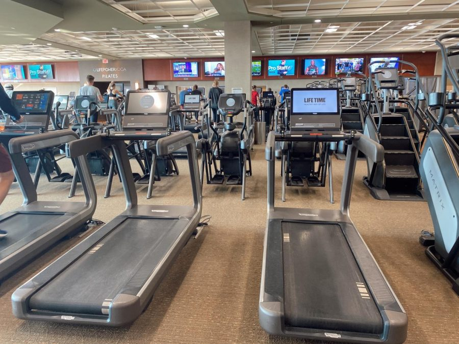 Lifetime gym is a place where many Dowling students go to achieve their New Year's resolutions.