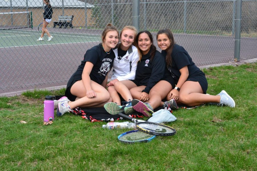 Becca Youngers (11), Natalie Bejarno (11), and their sisters during the 2019 season.