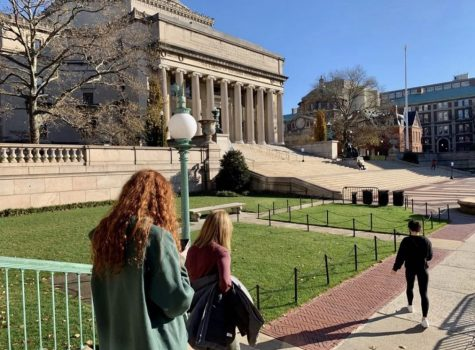Sam and Lauren Schroeder (11) visit Columbia University over Thanksgiving break.