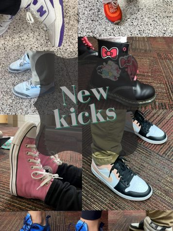 Showing pictures of some of the students new shoes this school year.